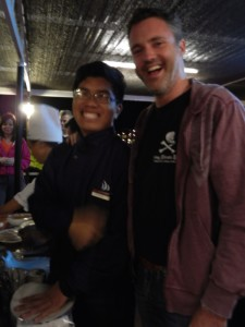 Roger & our new friend Chee. It's a bit blurry, but then most of the day was.